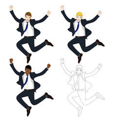 business man jumping vector image