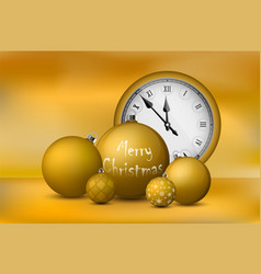 Xmas and new year decorations gold christmas vector