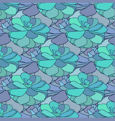 Succulents seamless pattern textile design in vector