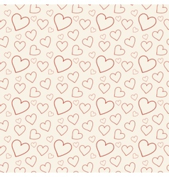 Lovely pink background with hearts vector image