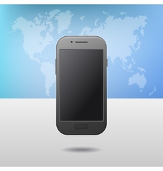 Template with Touchscreen Mobile Phone Device and vector image