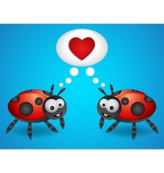 Cartoon ladybugs vector image