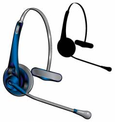 headset vector image