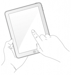 ipad style tablet computer vector image