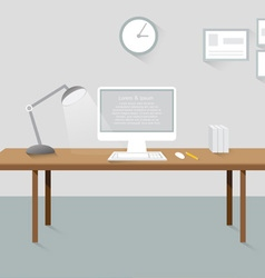 Room workplace creative office design elements vector