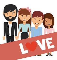 Family love design vector
