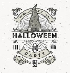 Line art for halloween party vector