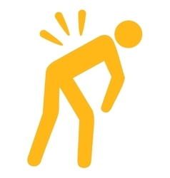 Backache icon vector