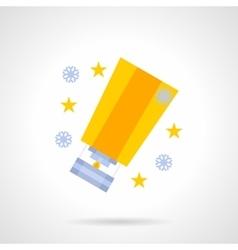 Yellow bright sky lantern flat color icon vector image