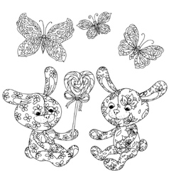 Toy for adult coloring book vector