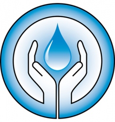 Water drops and hands vector