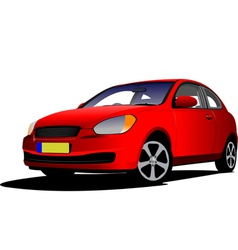 al 0210 red car vector image