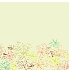 Autumnal background with leaves shapes vector image vector image