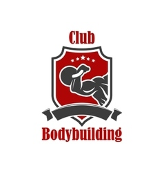 Bodybuilding sport club sign vector image vector image