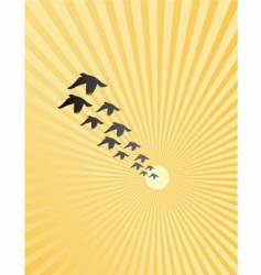 burst birds vector image