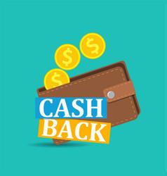 cash back icon vector image
