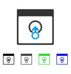 Cell penetration calendar page flat icon vector