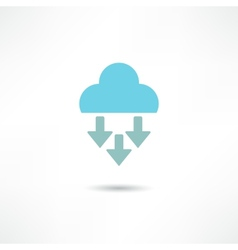 Cloud computing concept icon vector image vector image