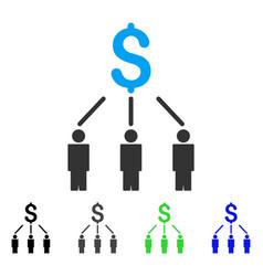 Crowdfunding flat icon vector