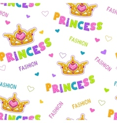 Cute seamless pattern for baby girls vector