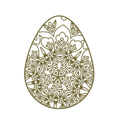 Easter egg laser cutting vector