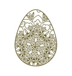 Easter egg laser cutting vector