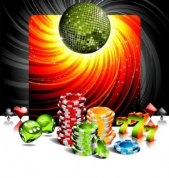 Entertainment background vector