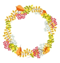 Fall floral bouquet wreath vector