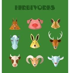 Farm animals icons format vector image
