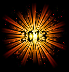 gold abstract happy new year twenty thirteen vector image