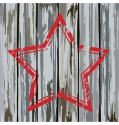 Grunge old wooden fence star frame vector