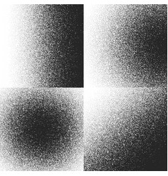 halftone textures patterns with black dots vector image
