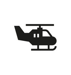 helicopter icon on white background vector image