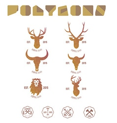 Hipster minimalistic logotype with head of deer vector image