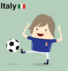 Italy national football team businessman happy is vector