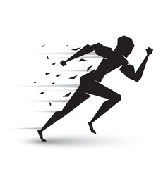 motion of running man vector image