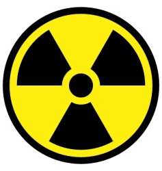Radiation sign vector