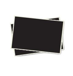 Retro photo frame isolated on white background vector image vector image