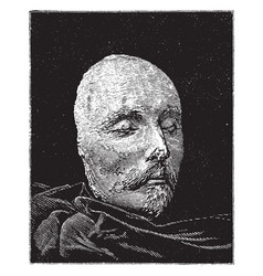 Shakespeare death mask vintage vector