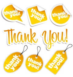 thank you stickers and tags vector image