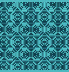 turquoise geometric seamless pattern vector image