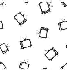 Tv icon seamless pattern background business flat vector