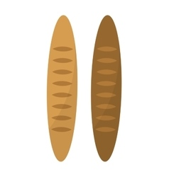 Loaf bread isolated vector