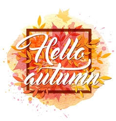 Abstract autumn frame vector