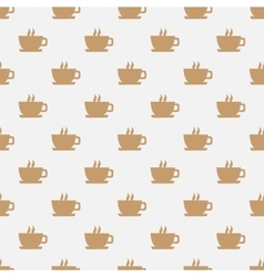 Seamless pattern with hot coffee vector image
