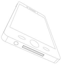 Smart phone sketch vector