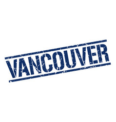Vancouver blue square stamp vector