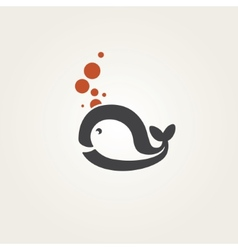 whale vector image
