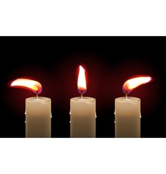 Burning candle vector