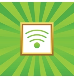 Wi-fi picture icon vector